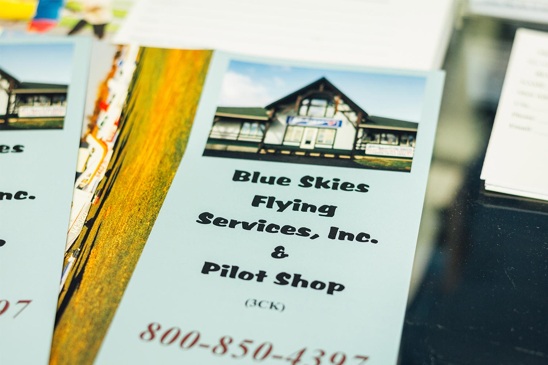 Blue-Skies-Flying-Pilot-Shop-Pamplet-Information-Aviation-Training-Info