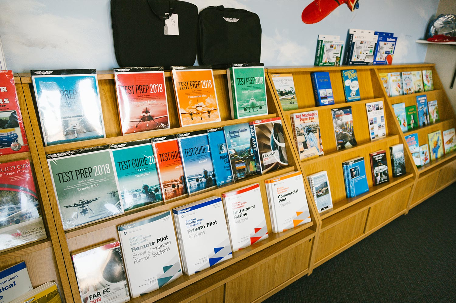 Blue-Skies-Flying-Services-Plane-Books-Test-Materials-Pilot-Airport-Lake-in-the-Hills
