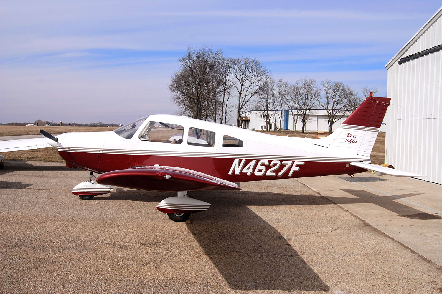 Blue-Skies-Flying-Services-Cockpit-Panel-Bluetooth-Piper-Archer-N4627F-Plane